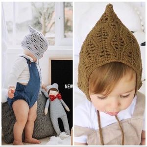 """Other - crochet baby """"FALL AND LEAVES"""" Bonnet"""